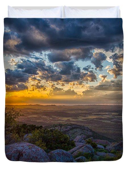 Sunset From The Heavens Duvet Cover