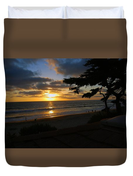 Sunset From The Staircase Duvet Cover