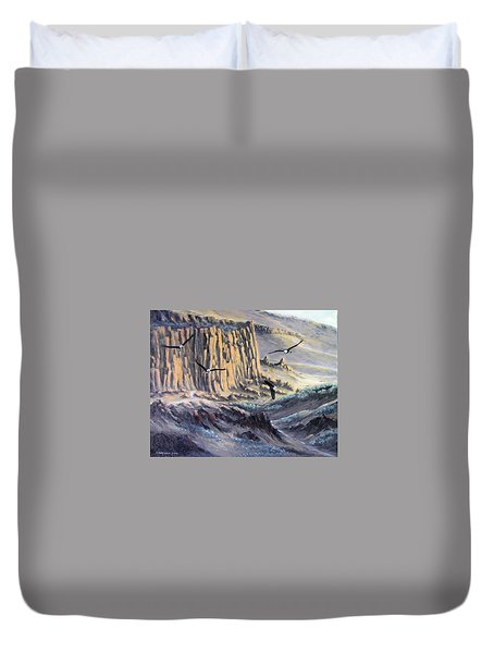 Sunset Gathering Duvet Cover