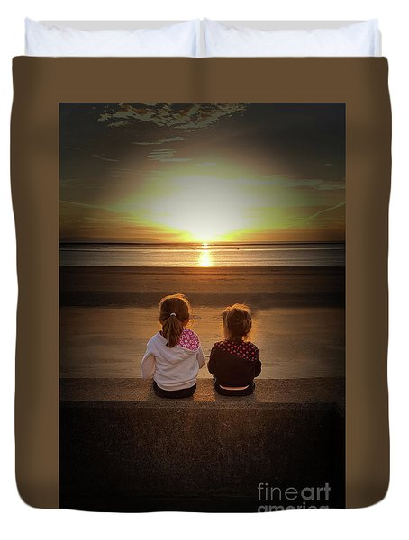 Sunset Sisters Duvet Cover