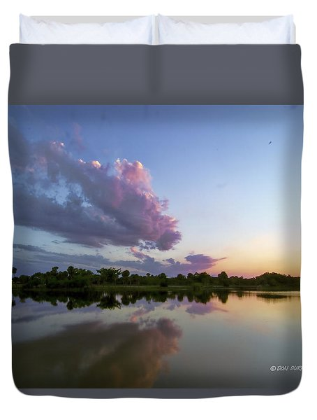 Duvet Cover featuring the photograph Sunset Glow by Don Durfee