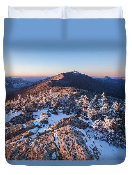 Sunset Glow On Franconia Ridge Duvet Cover