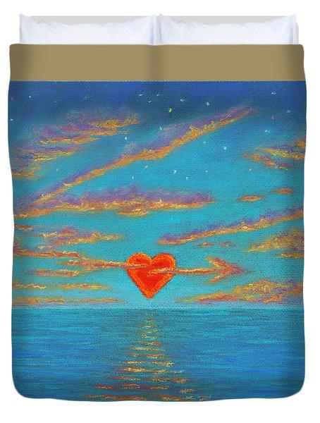 Sunset Heart 01 Duvet Cover