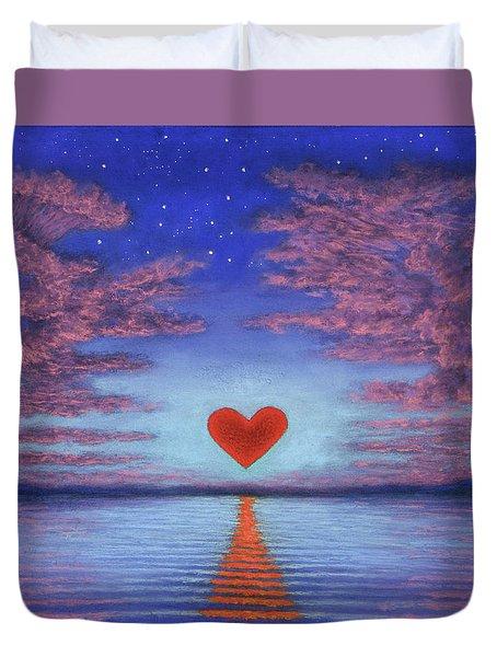 Sunset Heart 02 Duvet Cover