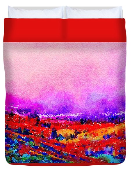 Sunset Hills Duvet Cover