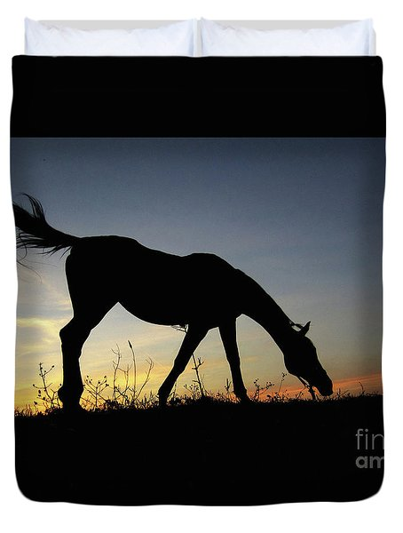 Sunset Horse Duvet Cover