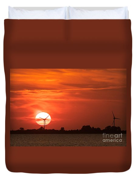 Sunset Husum Duvet Cover