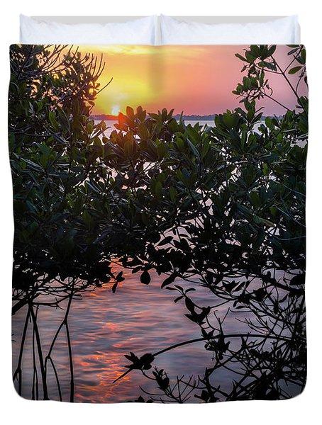 Sunset, Hutchinson Island, Florida  -29188-29191 Duvet Cover