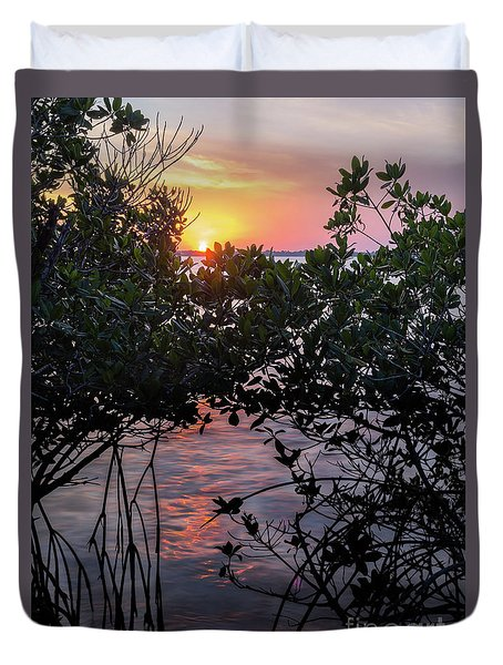 Sunset, Hutchinson Island, Florida  -29188-29191 Duvet Cover