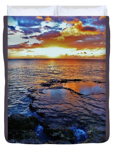 Sunset In A Tide Pool II Duvet Cover