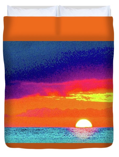 Sunset In Abstract  Duvet Cover