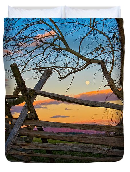 Sunset In Antietam Duvet Cover