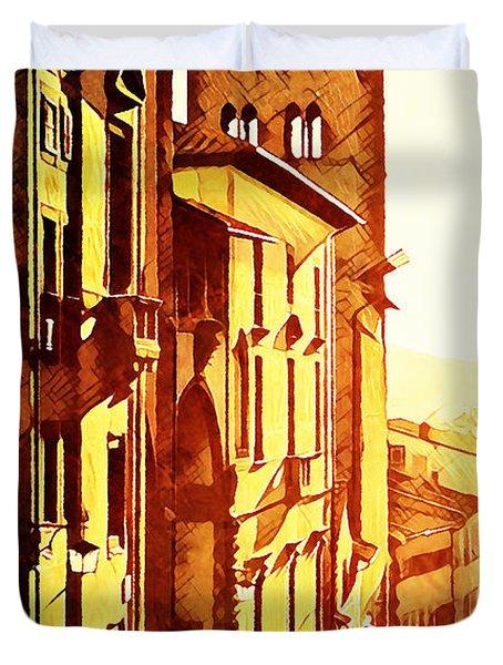 Sunset In Arezzo Duvet Cover