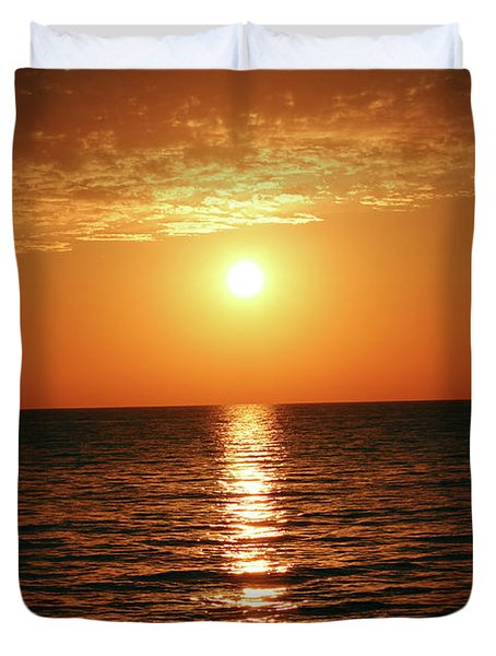 Sunset In Bimini Duvet Cover