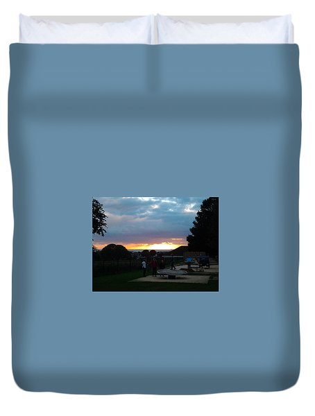 Sunset In Brighton Duvet Cover