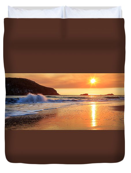 Duvet Cover featuring the photograph Sunset In Brookings by James Eddy