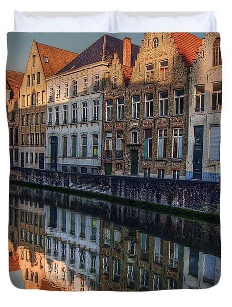 Sunset In Bruges Duvet Cover