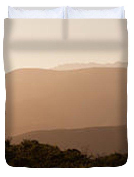 Sunset In California Duvet Cover
