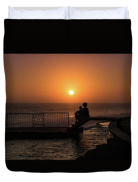 Sunset In Cerritos Duvet Cover