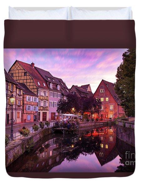 Sunset In Colmar Duvet Cover by Brian Jannsen