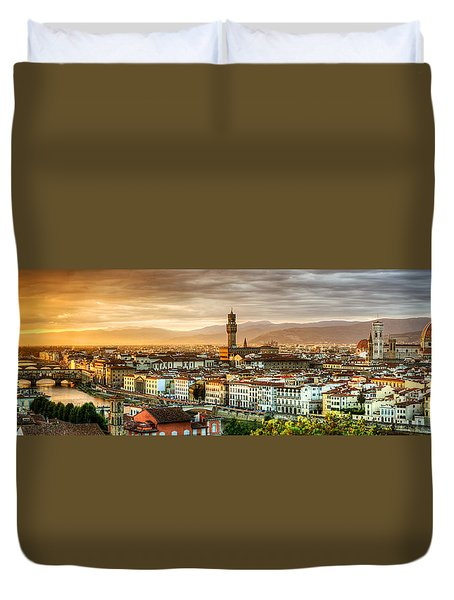 Sunset In Florence Duvet Cover