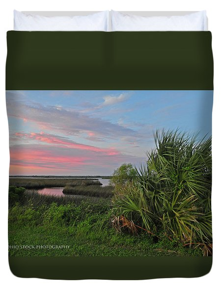 D32a-89 Sunset In Crystal River, Florida Photo Duvet Cover