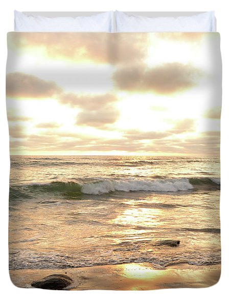 Sunset In Golden Tones Torrey Pines Natural Preserves #2 Duvet Cover