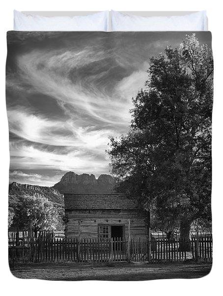Sunset In Grafton Ghost Town Duvet Cover by Sandra Bronstein