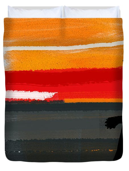 Sunset In Hamptons Duvet Cover
