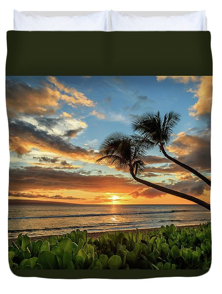 Sunset In Kaanapali Duvet Cover