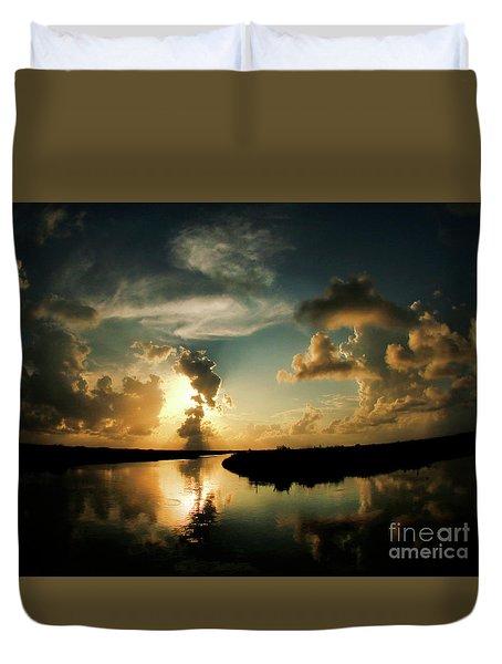 Sunset In Lacombe, La Duvet Cover