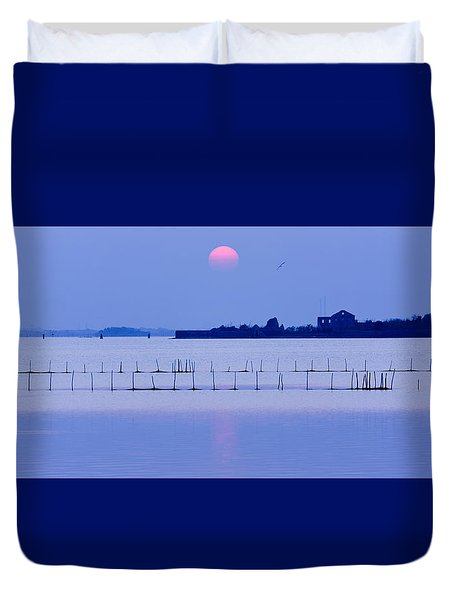 Sunset In Laguna Duvet Cover
