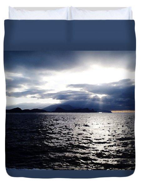 Sunset In Madeira Duvet Cover