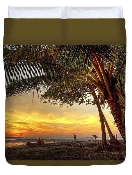 Sunset In Mal Pais Duvet Cover