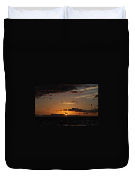Sunset In Maui 2 Duvet Cover