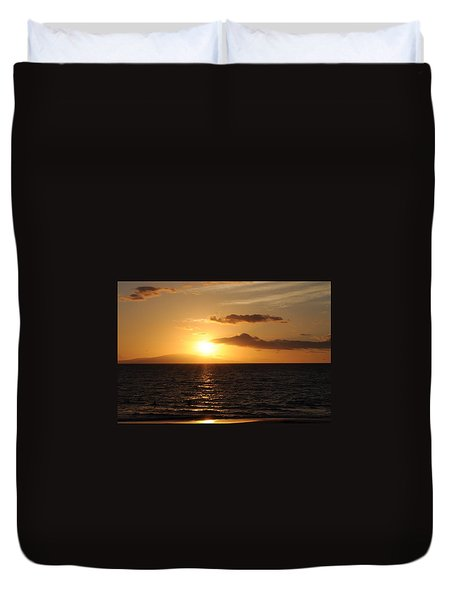 Sunset In Maui Duvet Cover