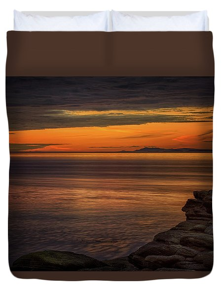 Sunset In May Duvet Cover by Randy Hall