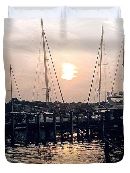 Sunset In Nantucket Duvet Cover