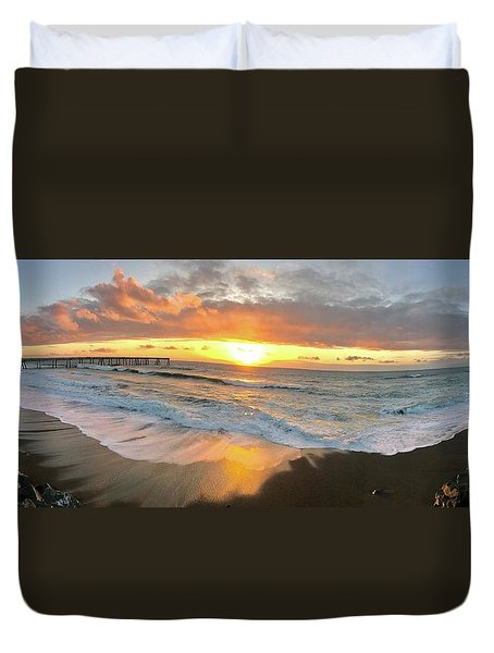 Sunset In Pacifica Duvet Cover
