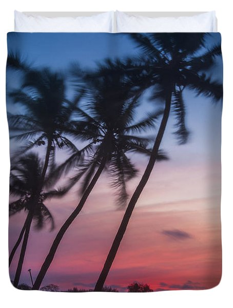 Sunset In Paradise Duvet Cover