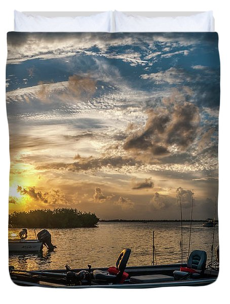 Sunset In Paradise Duvet Cover