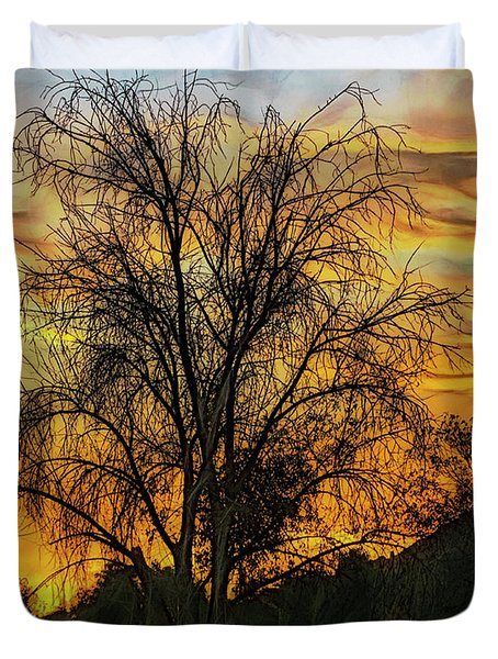 Sunset In Perris Duvet Cover