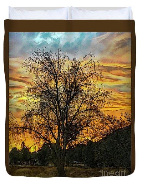 Sunset In Perris Duvet Cover