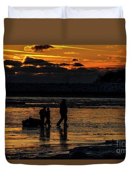 Sunset In Port Colborne Duvet Cover