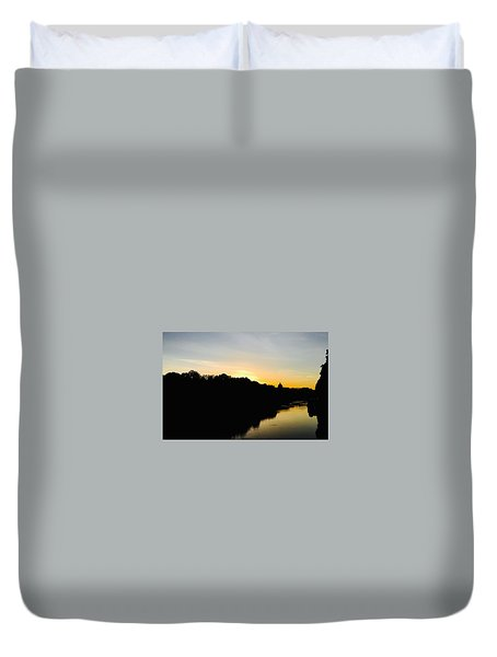 Sunset In Rome Duvet Cover