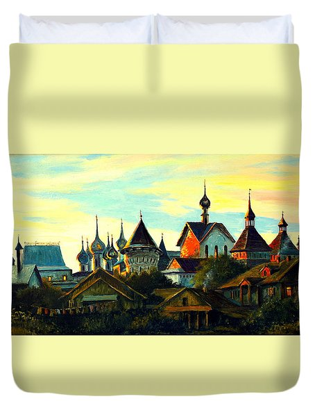 Sunset In Rostov Duvet Cover by Henryk Gorecki