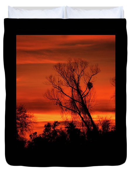 Sunset In Sacramento Duvet Cover