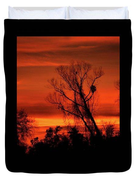 Sunset In Sacramento Duvet Cover