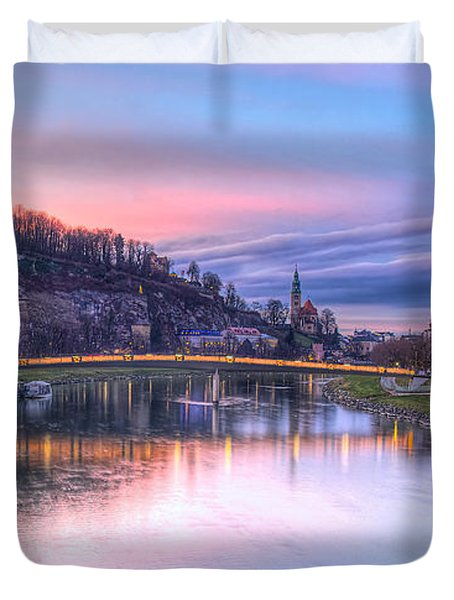 Sunset In Saltzburg Duvet Cover