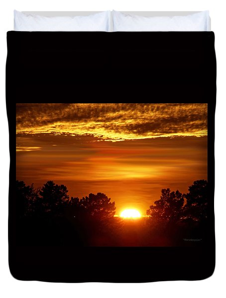 Sunset In Sonoma County Duvet Cover
